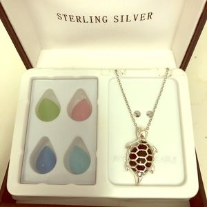 Jewelry - Turtle Necklace w/ Interchangeable Stones